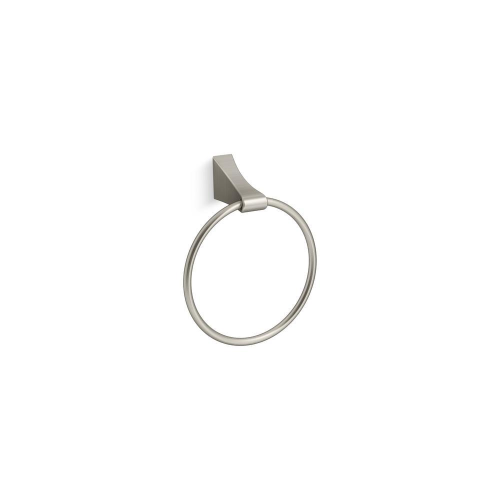 KOHLER Katun Towel Ring in Vibrant Brushed Nickel