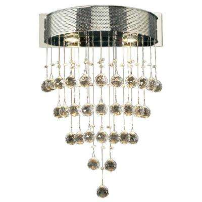 2-Light Polished Chrome Pendant with Clear Glass