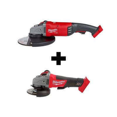 M18 FUEL 18-Volt Lithium-Ion Brushless Cordless 7/9 in. Angle Grinder with M18 FUEL 4-1/2 in. 5 in. Grinder