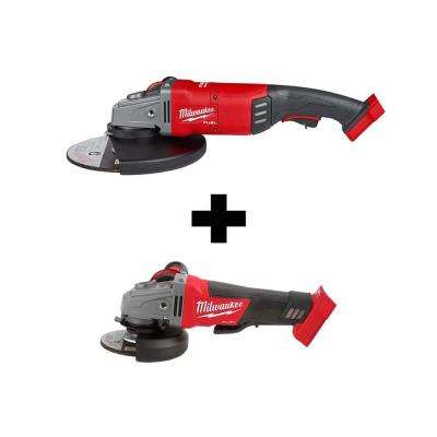 M18 FUEL 18-Volt Lithium-Ion Brushless Cordless 7/9 in. Angle Grinder with Free M18 FUEL 4-1/2 in. 5 in. Grinder
