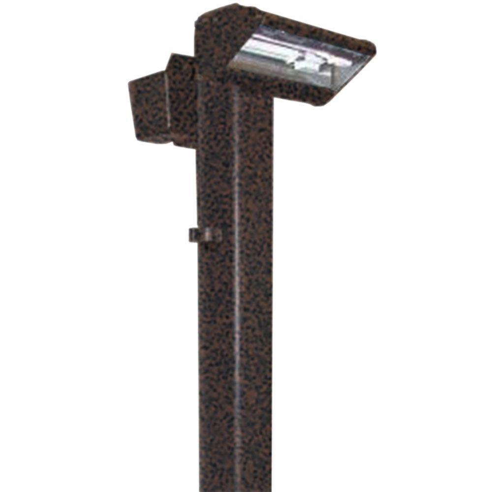 Filament Design Centennial Weathered Brown Putting Outdoor LED Green Light