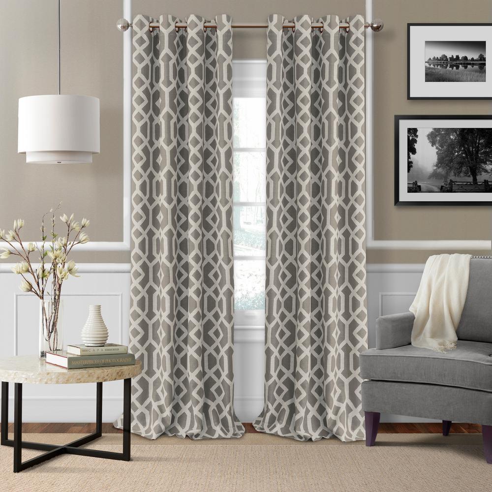 Elrene Grayson Trellis Room Darkening Window Curtain