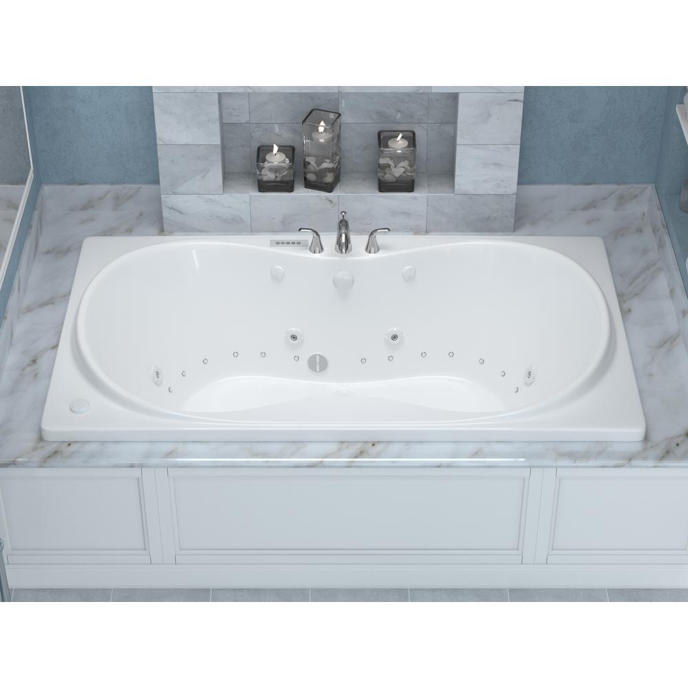 Universal Tubs Star Diamond Series 6 Ft Center Drain Rectangular Drop In Whirlpool And Air Bath Tub In White Hd3672wdlx The Home Depot