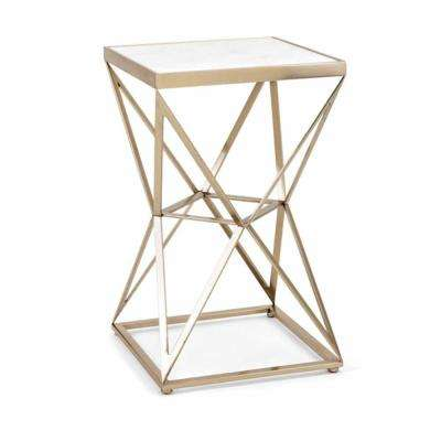 Julian White Accent Table