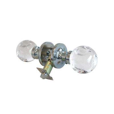 Abc Clear Crystal Chrome Privacy Door Knob with LED Mixing Lighting Touch Activated