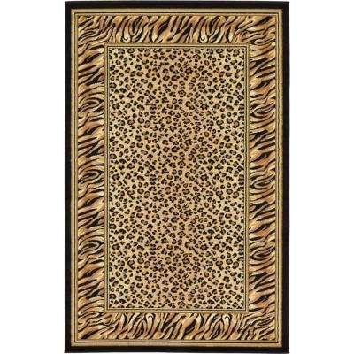 Safari Light Brown 5 ft. x 8 ft. Area Rug