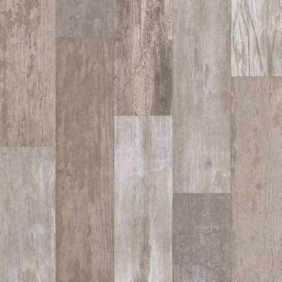 Take Home Sample - Petrified Oak Plank Stone Vinyl Sheet - 6 in. x 9 in.