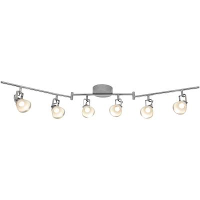 6-Light 4 ft. Chrome Integrated LED Track Lighting Kit