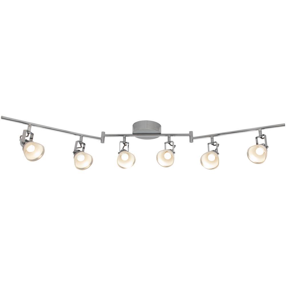 6-Light 4 ft. Chrome Integrated LED Track Lighting Kit