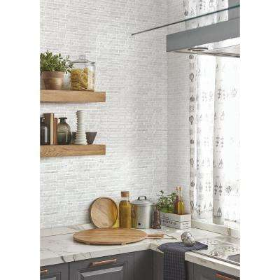 10 in. W x 10 in. H Polito White Peel and Stick Decorative Mosaic Wall Tile Backsplash (5-Tiles)