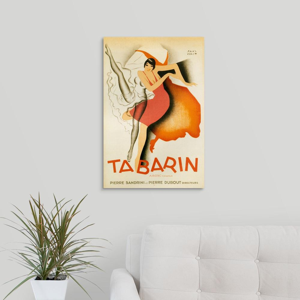 """1920's France Tabarin Poster"" by Great BIG Canvas Canvas Wall Art"
