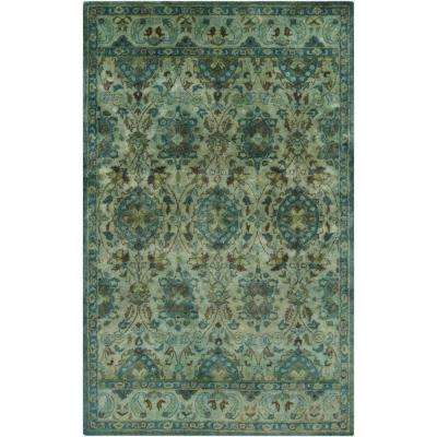 Parnua Teal 3 ft. x 5 ft. Indoor Area Rug