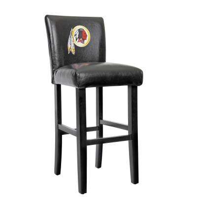 Washington Redskins 30 in. Black Bar Stool with Faux Leather Cover (Set of 2)