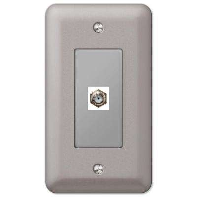 Devon 1 Coax Wall Plate - Brushed Nickel