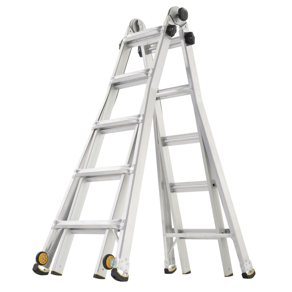 Gorilla Ladders 22 Ft Reach Mpx Aluminum Multi Position Ladder With Wheels 375
