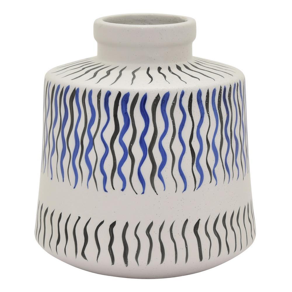 7.5 in. Blue Ceramic Vase