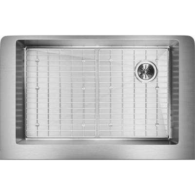 Crosstown Farmhouse Apron Front Stainless Steel 36 in. Single Bowl Kitchen Sink Kit