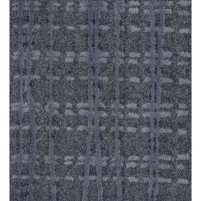 Carpet Sample - Busy Day - Color Steel Blue Pattern 8 in. x 8 in.