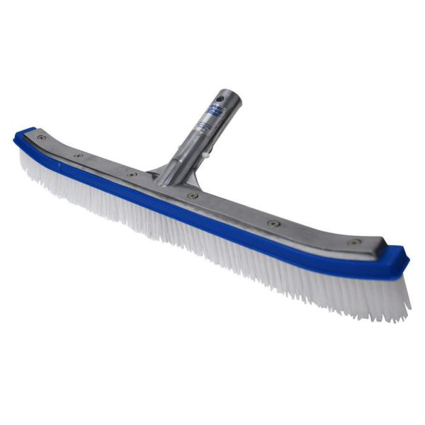 18 in. Swimming Pool Wall Cleaning Poly Brush Head Deluxe