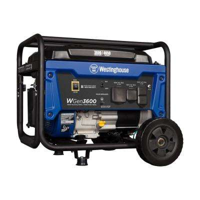 3,600-Watt Dual Fuel Powered Wireless Remote Start Portable Generator with 212cc OHV Westinghouse Engine