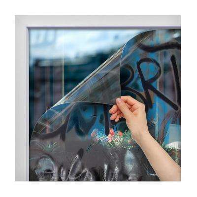 60 in. x 100 ft. AG4M Clear 4 Mil Graffiti Protection Window Film