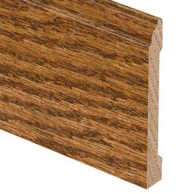Harvest Oak 5/8 in. Thick x 5-1/4 in. Wide x 94 in. Length Hardwood Base Molding