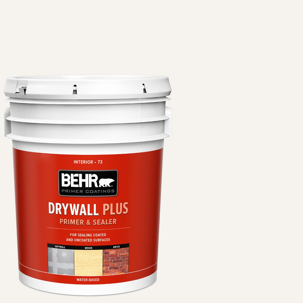 BEHR 5 gal. White Acrylic Interior Drywall Plus Primer and Sealer