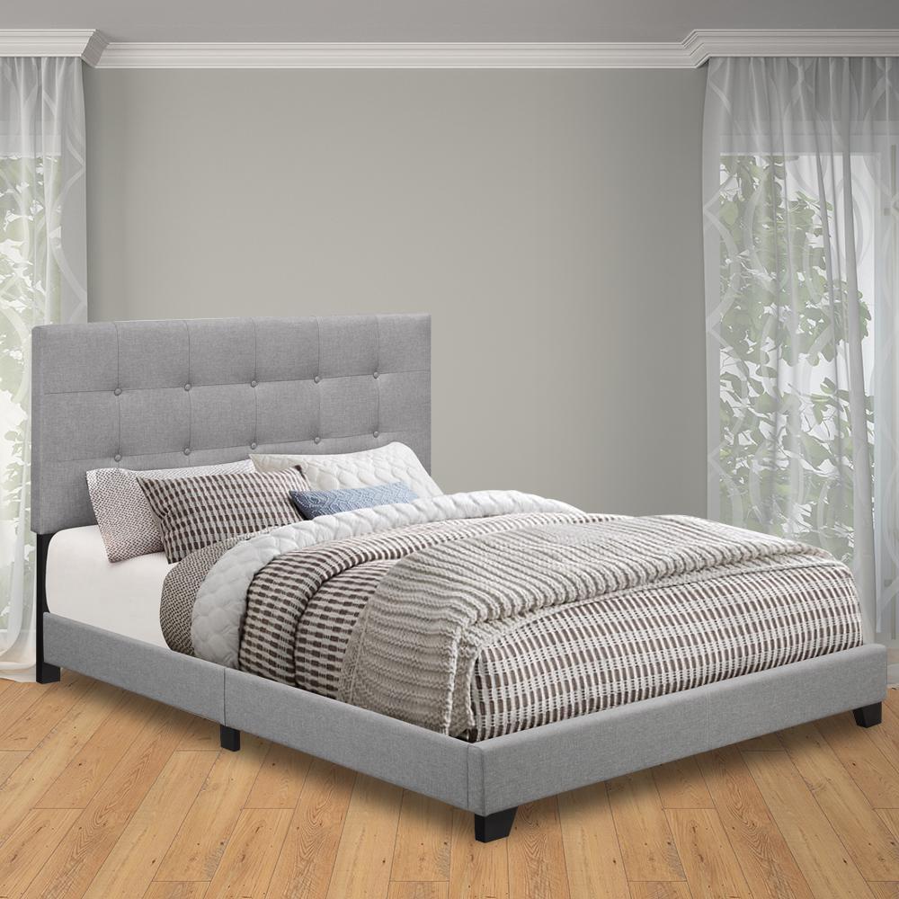 Glacier Queen Upholstered Bed. Queen   Beds   Headboards   Bedroom Furniture   The Home Depot