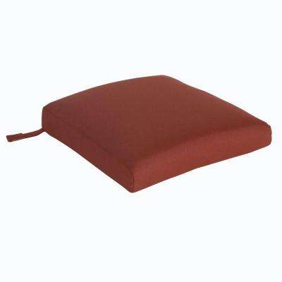 Tobago 19.2 x 19.5 Outdoor Dining Chair Cushion in Standard Burgundy (2-Pack)