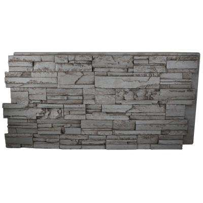 Faux Tennessee 24 in. x 48 in. x 1-1/4 in. Stone Panel Gray Rock
