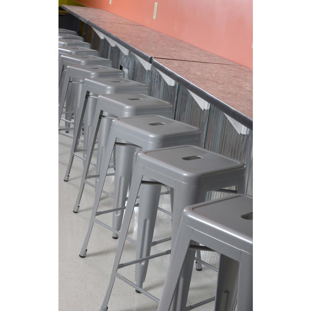 Regency Rivet Grey Stack Stool Set Gray 4550
