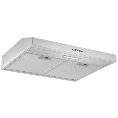 24 in. Convertible Under-Cabinet Range Hood in Stainless Steel with LED Lights
