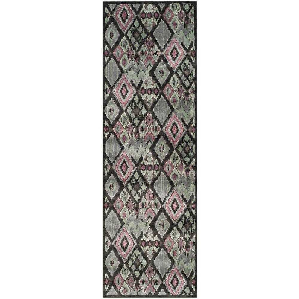 Safavieh Paradise Charcoal/Multi 2 ft. 5 in. x 7 ft. 6 in. Runner Rug