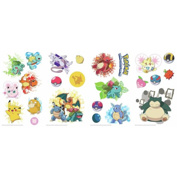 d10955c4c3109 RoomMates 5 in. x 11.5 in. Pokemon Iconic Peel and Stick Wall Decal ...