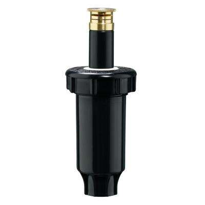 Plastic 2 in. 1/4 Pattern Spring Loaded Pop-Up Sprinkler with Twin Spray Brass Nozzle