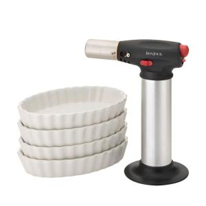BonJour Ramekin Set with Creme Brulee Torch by