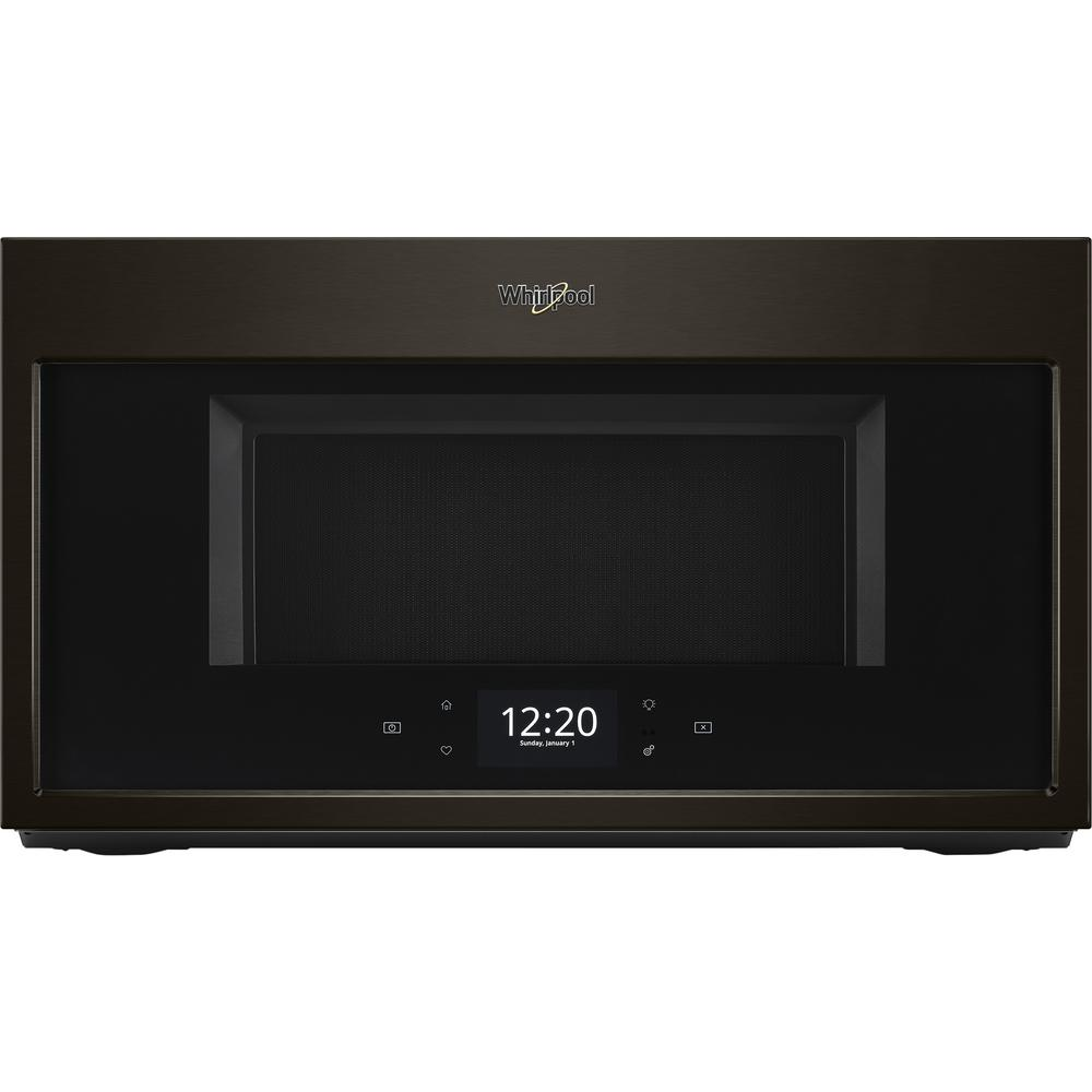 Whirlpool 1.9 cu. ft. Smart Over the Range Microwave in Black Stainless with Scan-to-Cook Technology