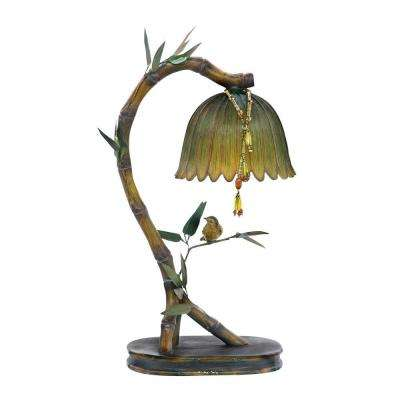 17 in. Brown Perching Finch Lamp