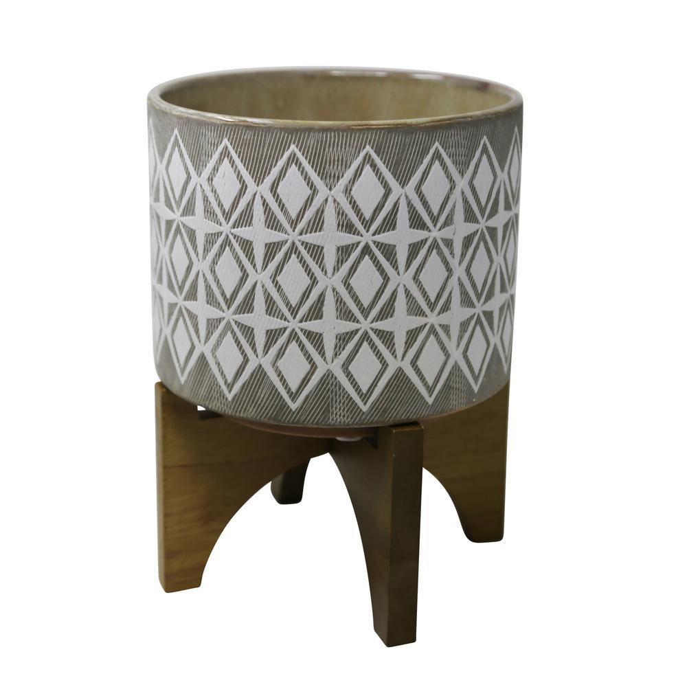 Outdoor Ceramic Gray Citronella Candle