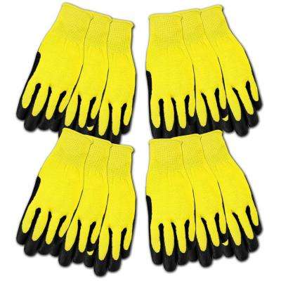 Men's Nitrile Coated Poly Liner Gloves (12-Pair)