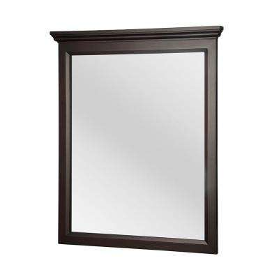 Teagen 29 in. x 34 in. Framed Wall Mirror in Dark Espresso
