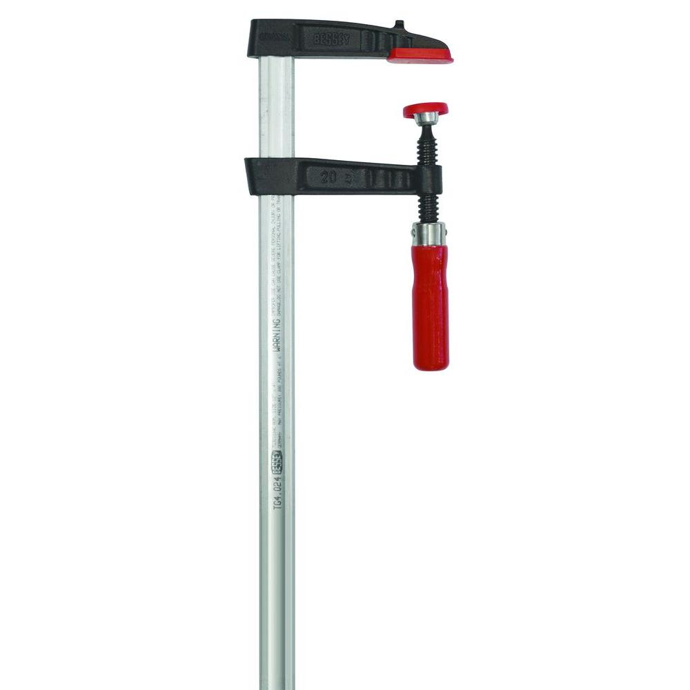 BESSEY TG Series 24 in. Bar Clamp with Wood Handle and 4 in. Throat Depth