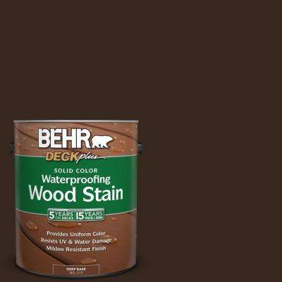 1 gal. #SC-105 Padre Brown Solid Color Waterproofing Exterior Wood Stain