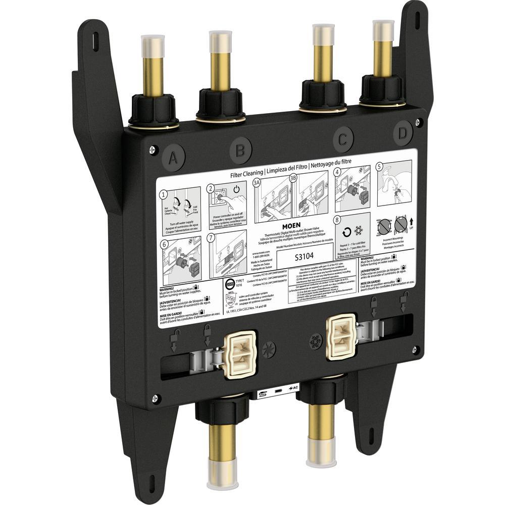 U by Moen 4-Outlet Digital Thermostatic Shower Valve