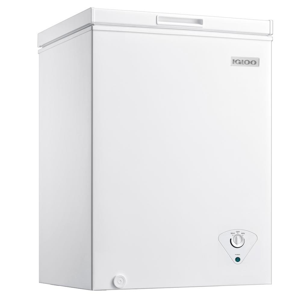 Igloo 5 Cu Ft Chest Freezer In White Icfmd50wh The Home Depot