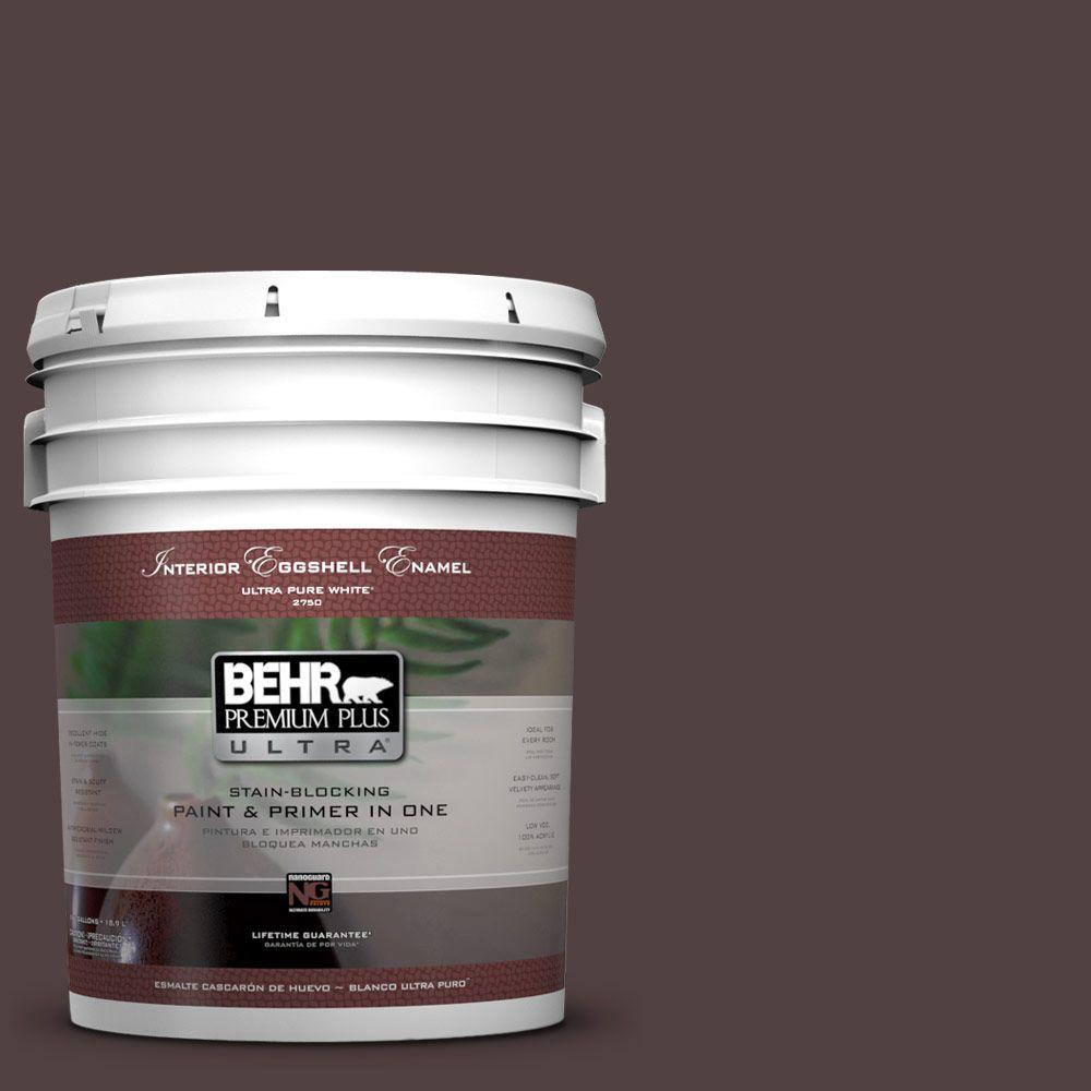 BEHR Premium Plus Ultra 5-gal. #BXC-87 Rich Bordeaux Eggshell Enamel Interior Paint