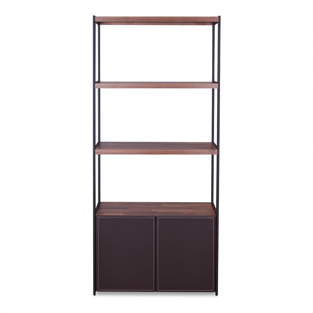 ACME Furniture Sara Walnut and Sandy Black Bookcase 92442
