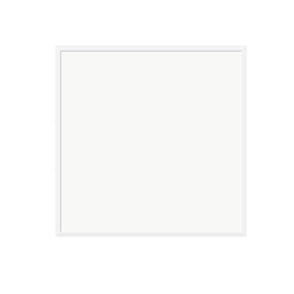 J&H LED 2x2 Panel Light 45-Watt White Integrated LED Dimmable  Semi-Flushmount