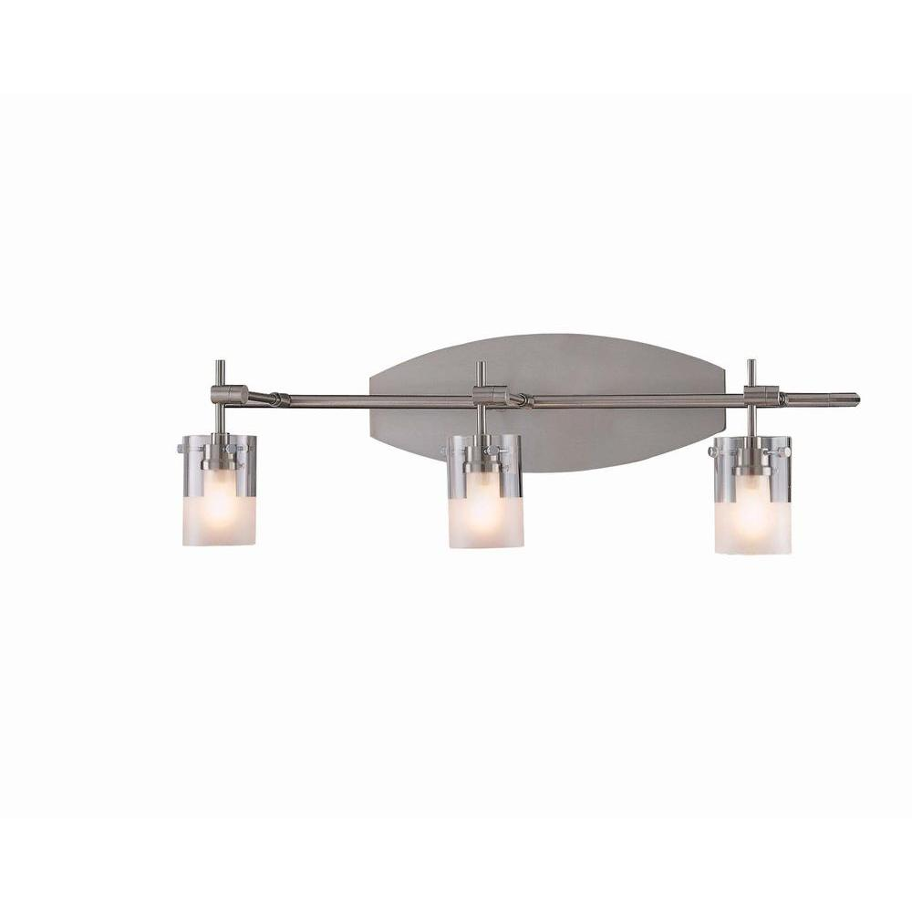 kovacs bathroom lighting george kovacs 3 light satin nickel bath bath light with 13392