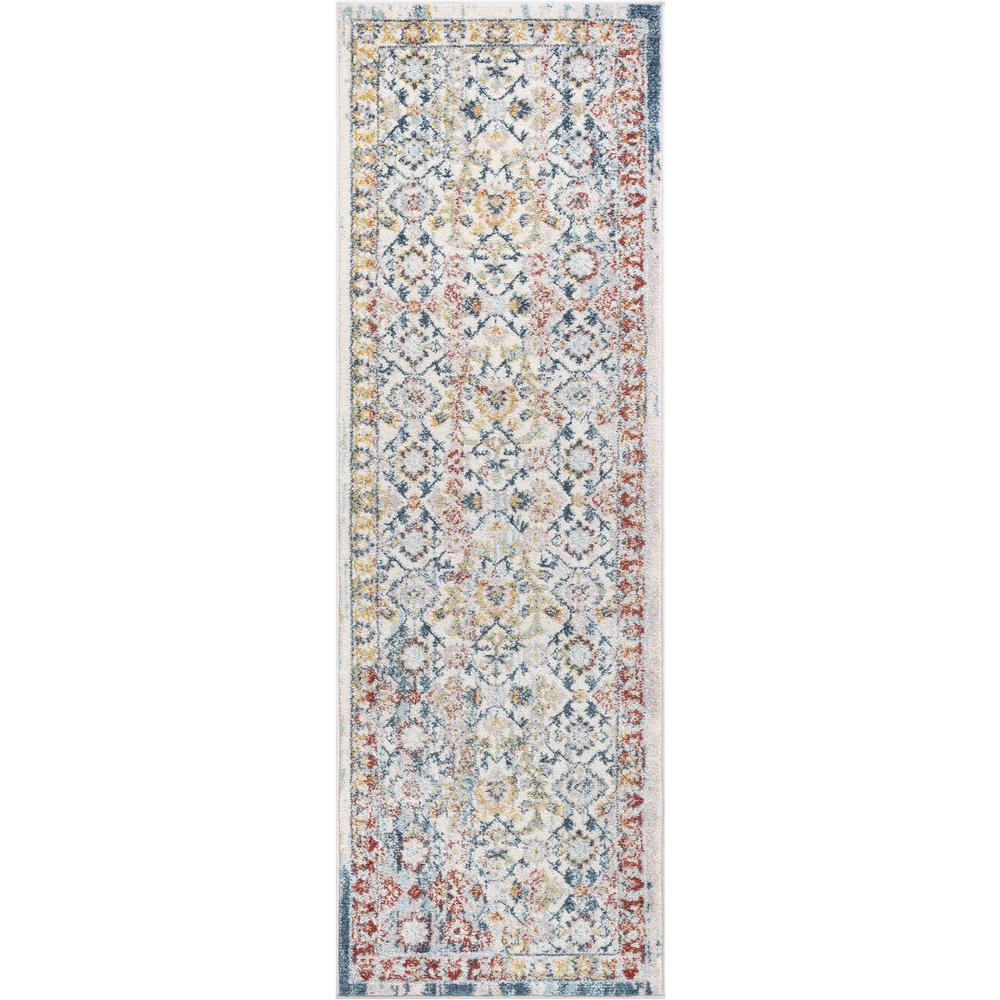 Well Woven Sydney Lyric Beige Vintage Bohemian Oriental 2 Ft 3 In X 7 Distressed Runner Rug